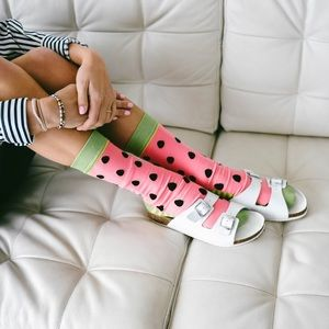 🆕 Watermelon Crew Socks